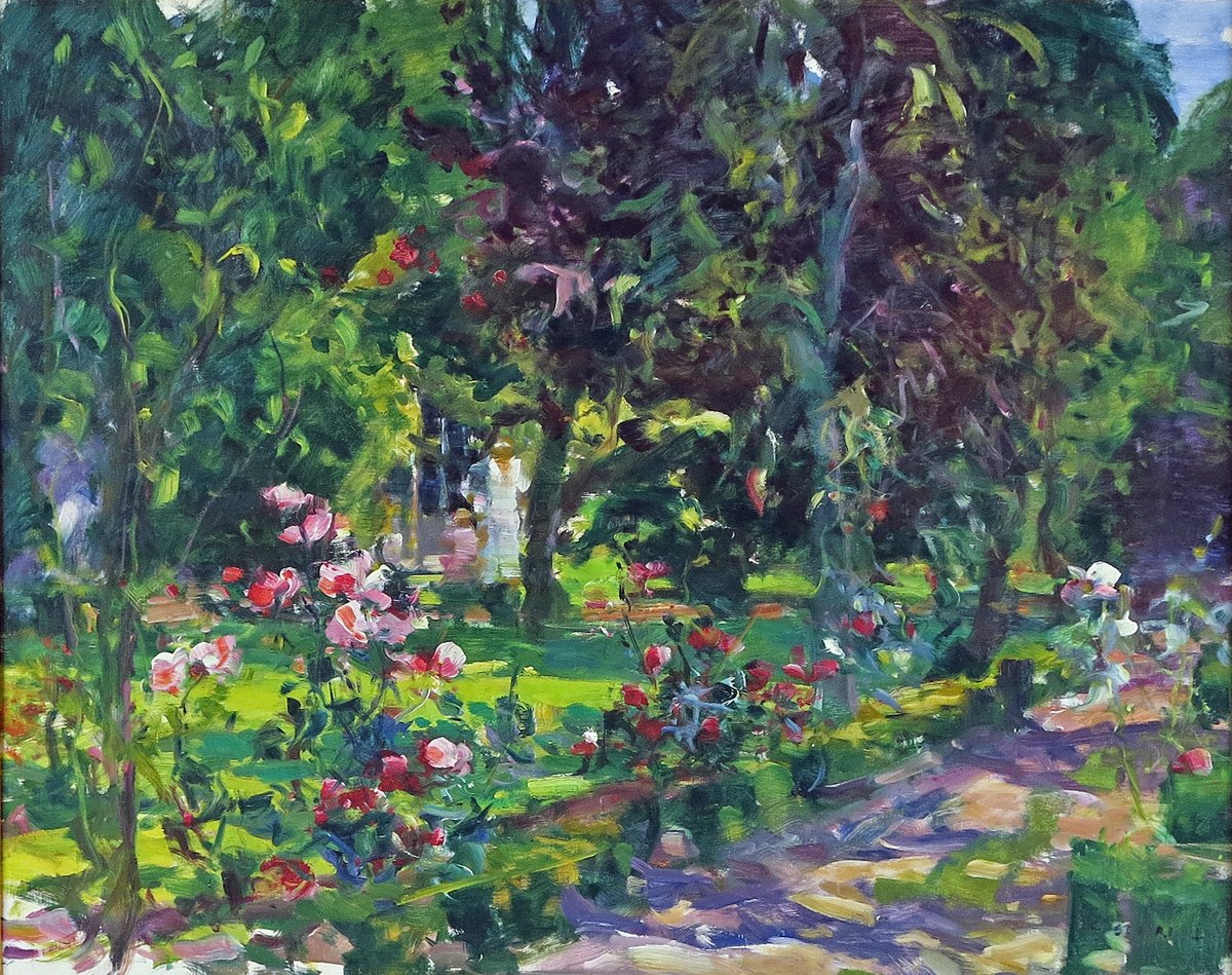Figures in a Flowering Garden