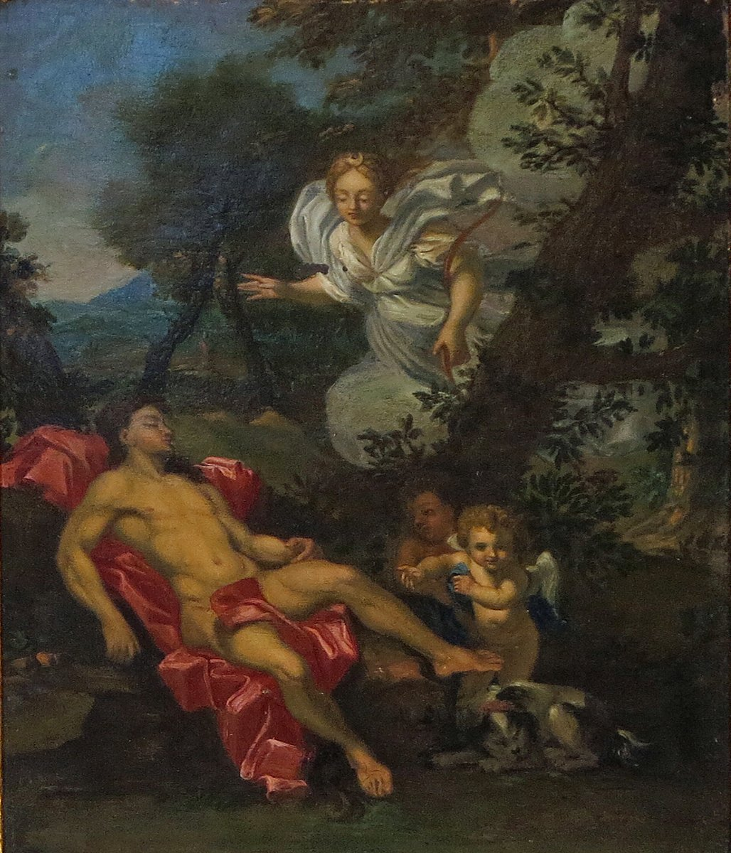 An 18th Century French School Diana & Endymion