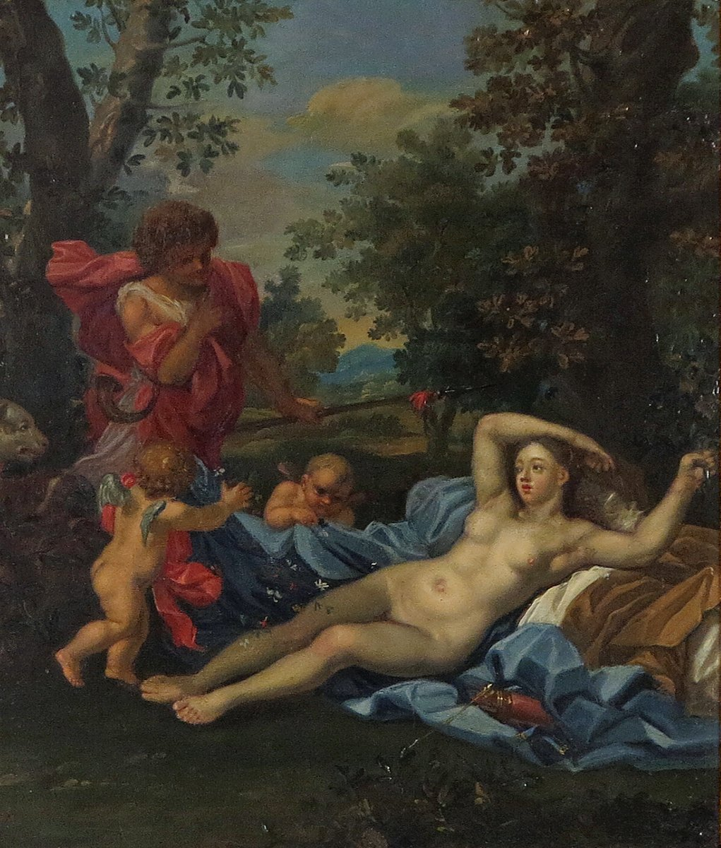 18th Century French School Venus & Adonis