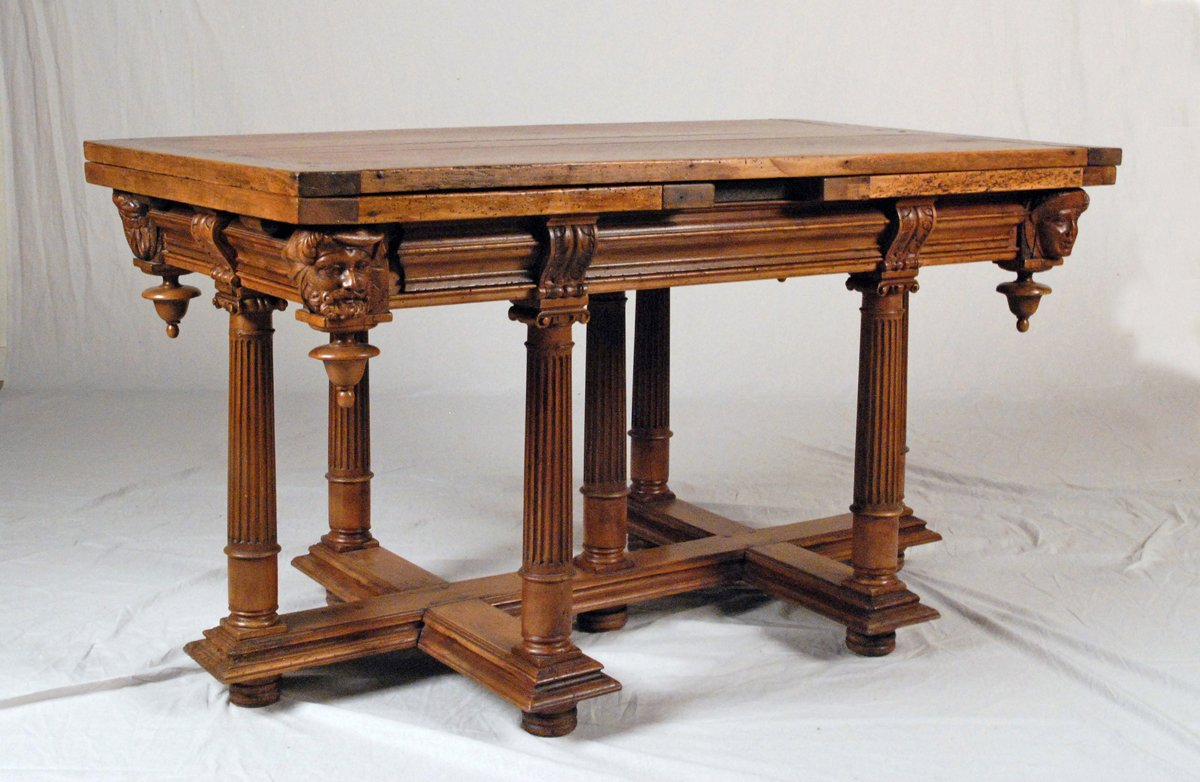 A Fine U0026 Rare Henri II Walnut Draw Leaf Table