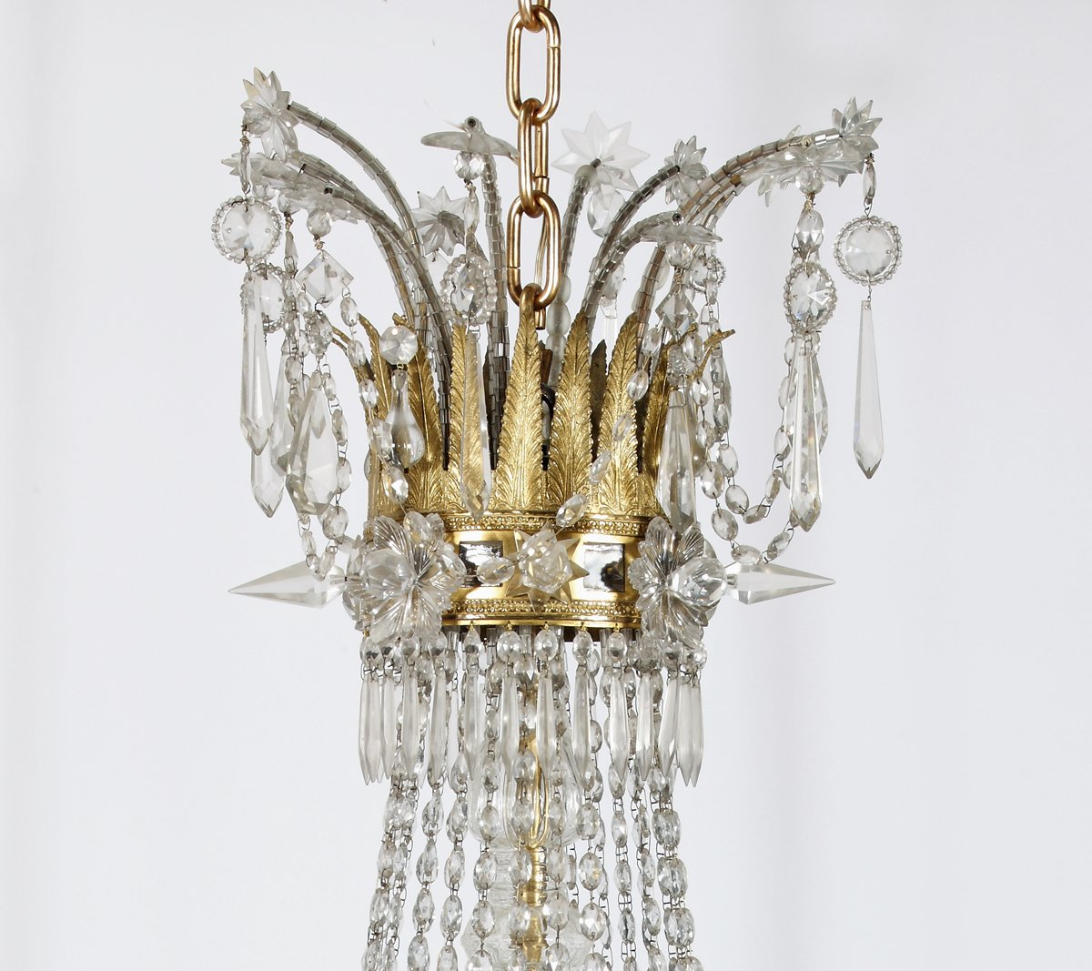 An Important Neoclassic Style Gilt Bronze & Crystal Chandelier ...