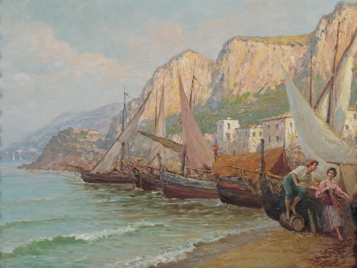 Bay of Naples with Figures