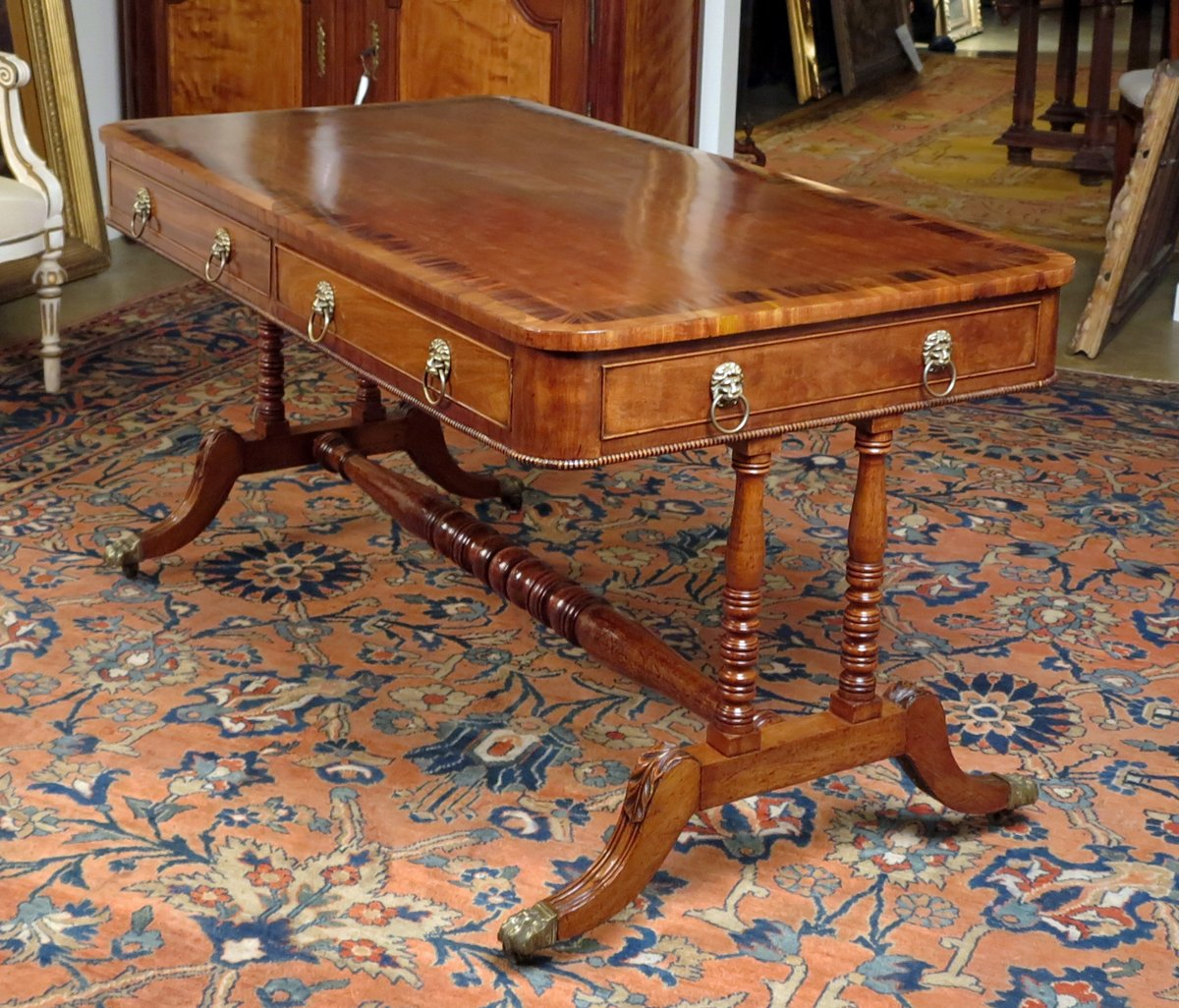 A Fine Regency Mahogany  Sofa Table/Writing Table Attributed to Gillows of Lancaster